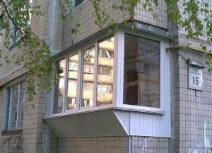 балкон с выносом, вынос балкона, вынос балкона киев